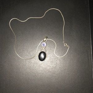 Jewelry - Black and purple sterling silver necklace